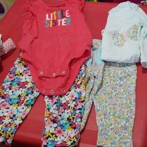 2 sets of carters baby girl clothes